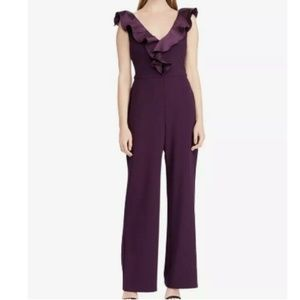 Lauren Ralph Lauren Evening Taffeta-Trim Jumpsuit